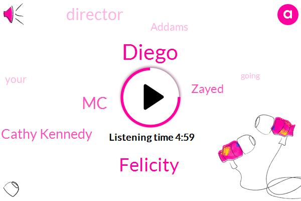 Diego,Felicity,MC,Cathy Kennedy,Zayed,Director,Addams