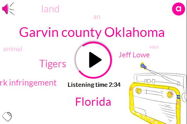 Garvin County Oklahoma,Florida,Tigers,Trademark Infringement,Jeff Lowe