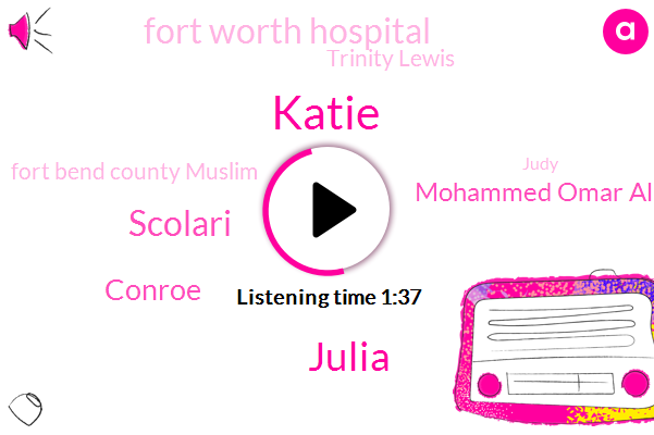 Katie,Julia,Scolari,Conroe,Mohammed Omar Ali,Fort Worth Hospital,Trinity Lewis,Fort Bend County Muslim,Judy,Fort Bend County,Troy Nelson