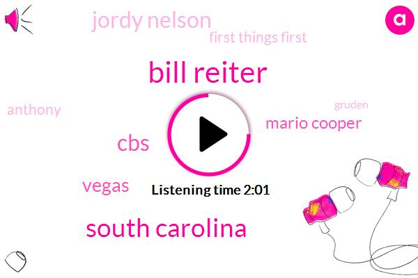 Bill Reiter,South Carolina,CBS,Vegas,Mario Cooper,Jordy Nelson,First Things First,Anthony,Gruden,Derek Carr,Michael Crabtree,Amari Cooper,Louisiana
