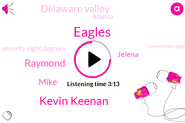 Eagles,Kevin Keenan,Raymond,Mike,Jelena,Delaware Valley,Atlanta,Seventy Eight Degrees,Seventy Five Degrees,Ninety Degree,Five Weeks,Five Yards,Ten Day