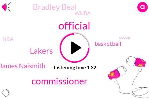 Official,Commissioner,Lakers,Dr James Naismith,Basketball,Bradley Beal,Wnba,NBA,Soccer,Carmelo Anthony,David Stern,Lebron James