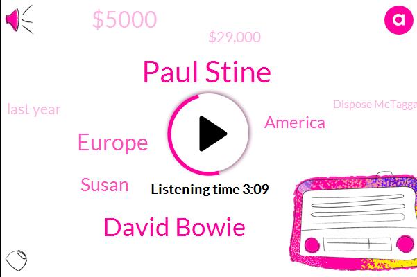Paul Stine,David Bowie,Europe,Susan,America,$5000,$29,000,Last Year,Dispose Mctaggart,22,Princess Bride,Chunky Dwight,Tiki's,Reddit,Couple Of Guys,Once
