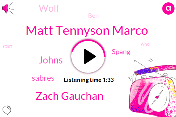 Matt Tennyson Marco,Zach Gauchan,Johns,Sabres,Spang,Wolf,BEN
