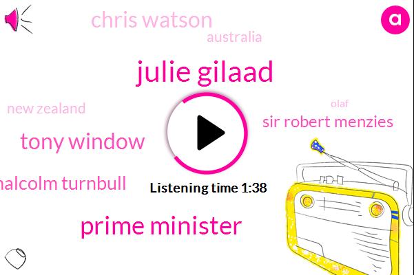 Julie Gilaad,Prime Minister,Tony Window,Malcolm Turnbull,Sir Robert Menzies,Chris Watson,Australia,New Zealand,Olaf,Latin America