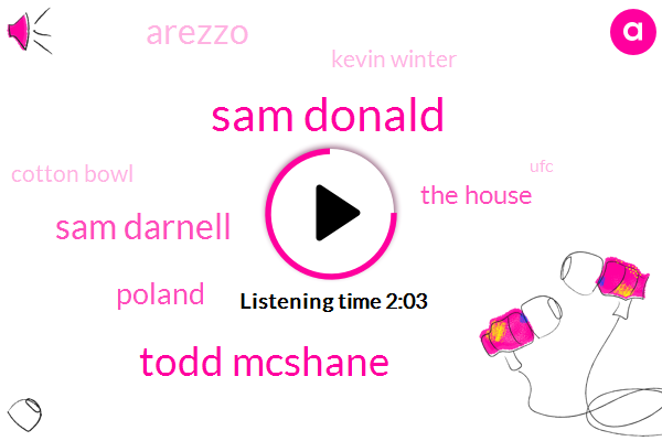 Sam Donald,Todd Mcshane,Sam Darnell,Poland,The House,Arezzo,Kevin Winter,Cotton Bowl,UFC,Espn,Music City Bowl,Kentucky,Mexico,Utah,Arizona,Fifty Nine Yards,Sixty Years,55 Bit