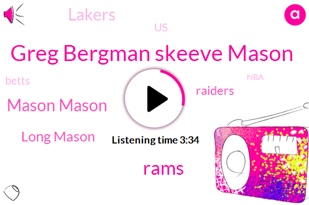 Greg Bergman Skeeve Mason,Rams,Mason Mason,Mason,Long Mason,Raiders,Lakers,United States,Betts,NBA,Anthony Davis,Chris,Bergman,Costa Rica,Oklahoma,Buffalo,Baylor,Tennessee,Football,RON