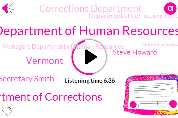 Department Of Human Resources,Department Of Corrections,Vermont,Secretary Smith,Steve Howard,Corrections Department,Department Of Corrections Central Central Office.,Managers Department Of Human Resources,State Employees Association,Graham,Komo,St Staff,Agency Of Human Services,Siesta Union,SEC,Steward Who,Paul,Mike,DNC