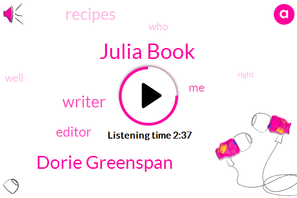 Julia Book,Dorie Greenspan,Writer,Editor
