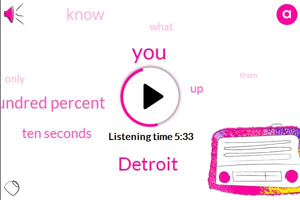 Detroit,Hundred Percent,Ten Seconds