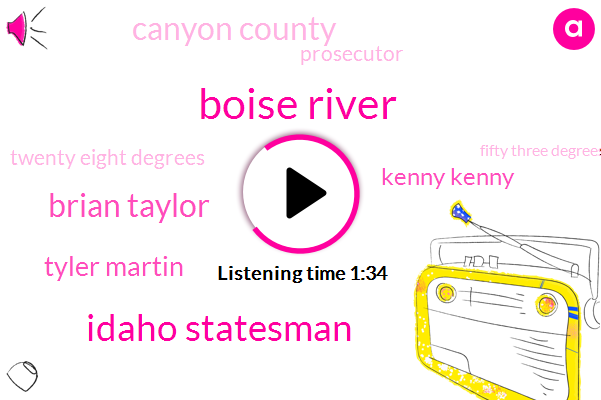 Boise River,Idaho Statesman,Brian Taylor,Tyler Martin,Kenny Kenny,Canyon County,Prosecutor,Twenty Eight Degrees,Fifty Three Degrees,Fifty Degrees,61 Degrees
