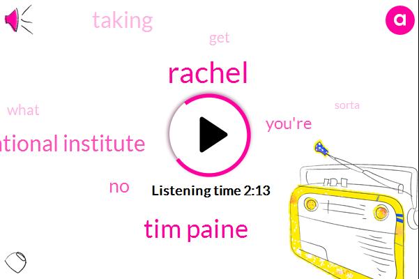 Rachel,Tim Paine,National Institute