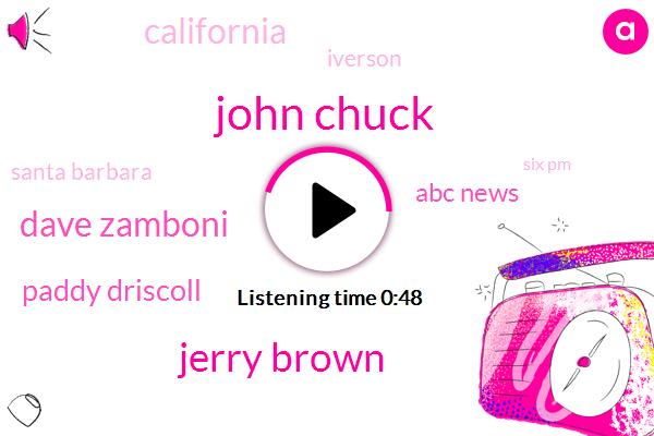 John Chuck,Santa Barbara County,Paddy Driscoll,Dave Zamboni,ABC,Iverson,California,Jerry Brown,Santa