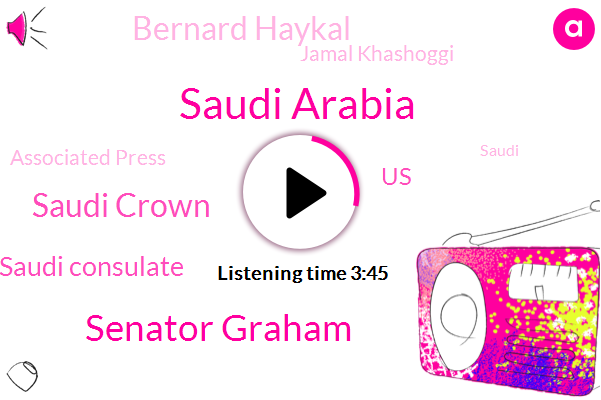 Saudi Arabia,Senator Graham,Saudi Crown,Saudi Consulate,United States,Bernard Haykal,Jamal Khashoggi,Associated Press,Prince Mohammad Bin Salman,Middle East,Congress,Senator Lindsey,Russia,Jeff Flake,Soman,Stephen Cook,Egypt