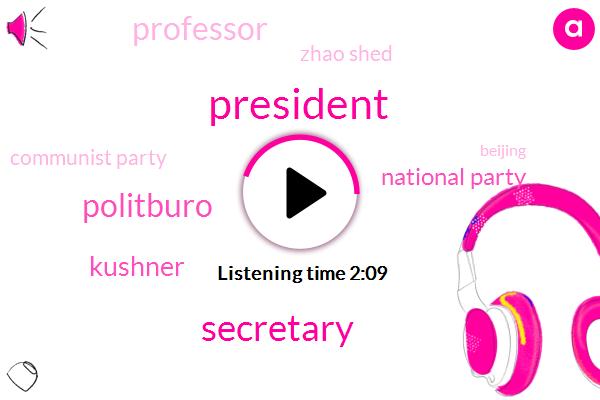 President Trump,Secretary,Politburo,Kushner,National Party,Professor,Zhao Shed,Communist Party,Beijing