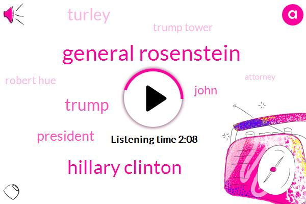 General Rosenstein,Hillary Clinton,President Trump,John,Turley,Trump Tower,Robert Hue,Donald Trump,Attorney,Vladimir Putin,Robert Luciano Wv