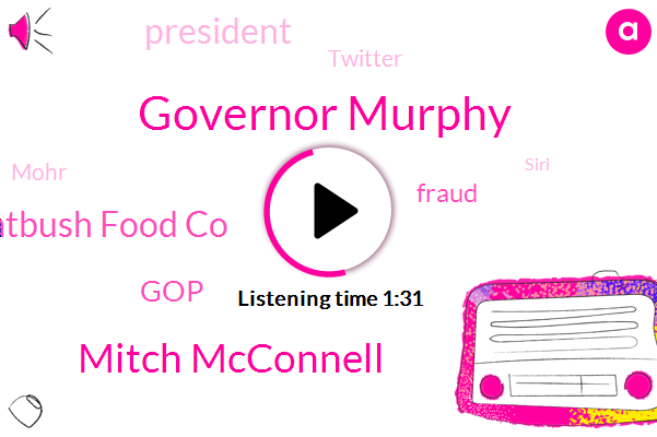 Governor Murphy,Mitch Mcconnell,Flatbush Food Co,GOP,Fraud,President Trump,Twitter,Mohr,Siri,Facebook,Biden,W. N. Y. C
