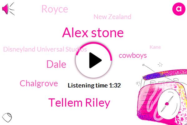 ABC,Alex Stone,Tellem Riley,Dale,Chalgrove,Cowboys,Royce,New Zealand,Disneyland Universal Studios,Kane,KIA,Roy Rogers,Buckaroos