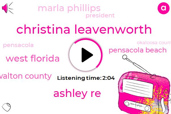 Christina Leavenworth,Ashley Re,West Florida,Walton County,Pensacola Beach,Marla Phillips,President Trump,Pensacola,Okaloosa County Destin,Twenty Four Hours,Five Inches