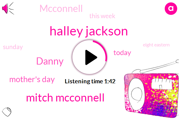 Halley Jackson,Mitch Mcconnell,Mother's Day,Danny,Today,Mcconnell,This Week,Sunday,Eight Eastern,Republican,Both,Donald Trump,Trillion,NBC,Three,Mitch,Couple Of Days,ONE,Speech_Music_Male,Janey