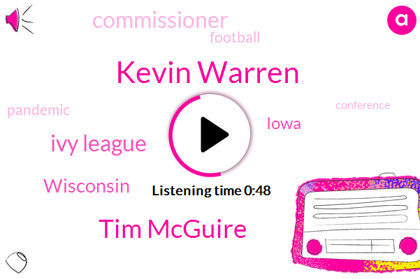 Football,Wisconsin,Kevin Warren,Ivy League,Tim Mcguire,Iowa,Commissioner,Pandemic