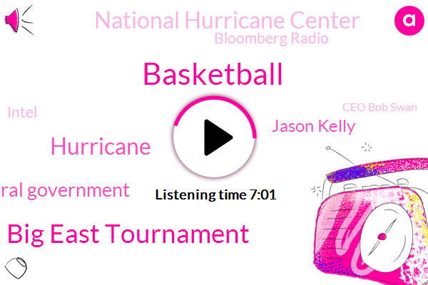 Basketball,Bloomberg,Big East Tournament,Hurricane,Federal Government,Jason Kelly,National Hurricane Center,Bloomberg Radio,Intel,Ceo Bob Swan,Bloomberg Television,Texas,Bloomberg World,United States,Chris Harvey,Attorney,China,Wells Fargo Securities,White House