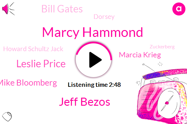 Internal Revenue Service,Marcy Hammond,Jeff Bezos,Leslie Price,Mike Bloomberg,Marcia Krieg,Bill Gates,Facebook,United States,Dorsey,OPR,Howard Schultz Jack,CEO,Zuckerberg,R. Block,Jamie,H.,Dimon