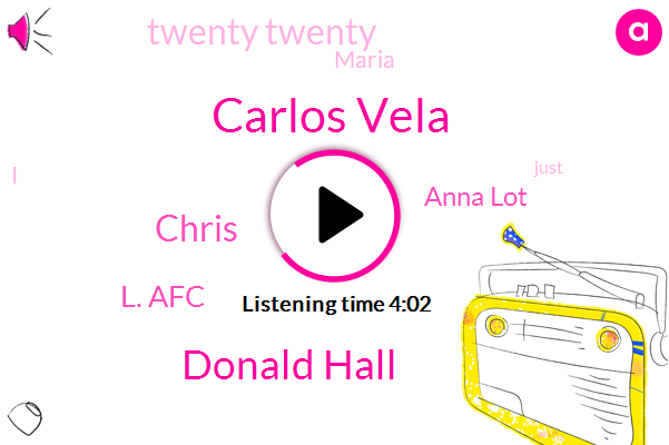 Carlos Vela,Donald Hall,Chris,L. Afc,Anna Lot,Twenty Twenty,Maria