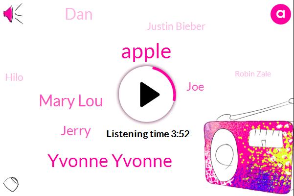 Yvonne Yvonne,Mary Lou,Apple,Jerry,JOE,DAN,Justin Bieber,Hilo,Robin Zale,Louisiana,Marianne,Ryan,Holloway,Cairns,Karen,Coon,Two Weeks