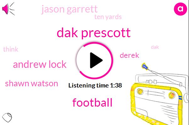 Dak Prescott,Football,Andrew Lock,Shawn Watson,Derek,Jason Garrett,Ten Yards