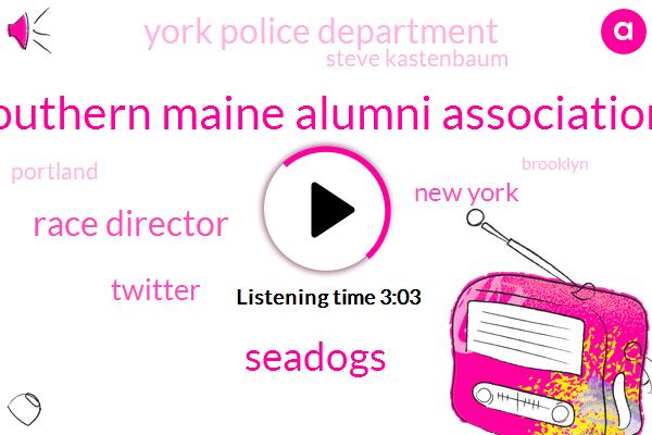 Southern Maine Alumni Association,Seadogs,Race Director,Twitter,New York,York Police Department,Steve Kastenbaum,Brooklyn,Portland,Jim Bohannon,Westwood,Attorney,Bill De Blasio,Five K