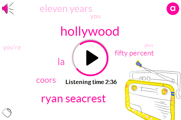 Hollywood,ABC,Ryan Seacrest,LA,Coors,Fifty Percent,Eleven Years