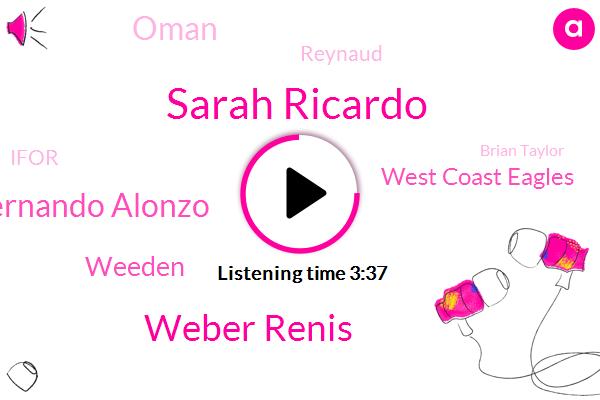 Sarah Ricardo,Weber Renis,Fernando Alonzo,Weeden,West Coast Eagles,Oman,Reynaud,Ifor,Brian Taylor,Renos,Apple,DAN,Once Palm