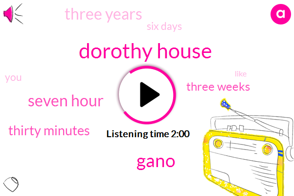 Dorothy House,Gano,Seven Hour,Thirty Minutes,Three Weeks,Three Years,Six Days