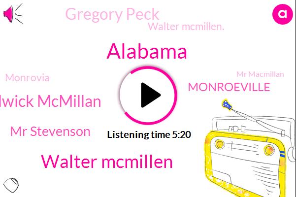 Alabama,Walter Mcmillen,Waldwick Mcmillan,Mr Stevenson,Monroeville,Gregory Peck,Walter Mcmillen.,Monrovia,Mr Macmillan,Officer,Brian,Mr. Stevenson,Popkin,LEE