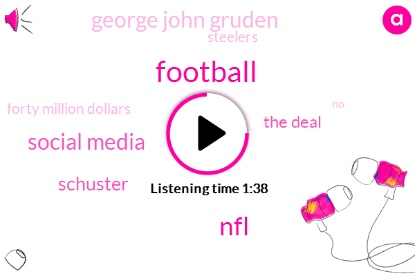 Football,NFL,Social Media,Schuster,The Deal,George John Gruden,Steelers,Forty Million Dollars