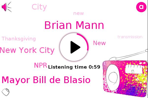 Brian Mann,Mayor Bill De Blasio,NPR,New York City