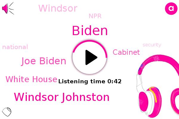 Windsor Johnston,Joe Biden,Biden,NPR,White House,Cabinet,Windsor