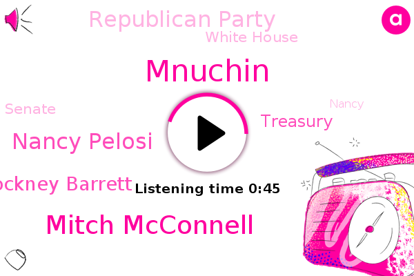 Mitch Mcconnell,Nancy Pelosi,Judge Amy Cockney Barrett,Republican Party,White House,Senate,Treasury,Mnuchin