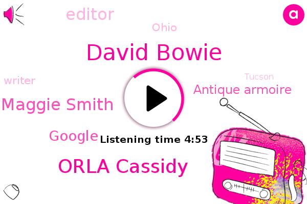 Editor,Google,David Bowie,Antique Armoire,Orla Cassidy,Maggie Smith,Ohio,Writer,Tucson,U. Haul