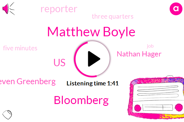 Matthew Boyle,Bloomberg,United States,Steven Greenberg,Nathan Hager,Reporter,Wcbs,Three Quarters,Five Minutes