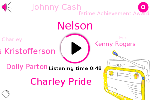 Charley Pride,Lifetime Achievement Award,Kris Kristofferson,Dolly Parton,Kenny Rogers,Nelson,Johnny Cash,ABC
