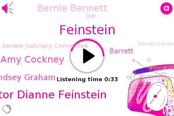 Senator Dianne Feinstein,Senate Judiciary Committee,Amy Cockney,Barrett Supreme Court,Senate Committee,Feinstein,Lindsey Graham,Judiciary Committee,California,Barrett,GOP,Bernie Bennett,Washington,JOE
