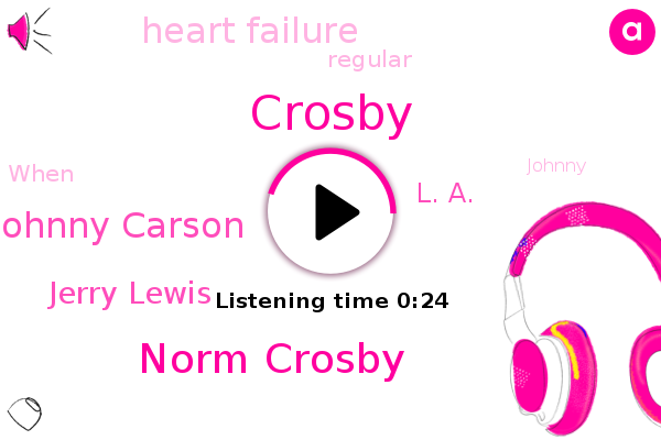 Norm Crosby,Johnny Carson,Crosby,Jerry Lewis,L. A.,Heart Failure
