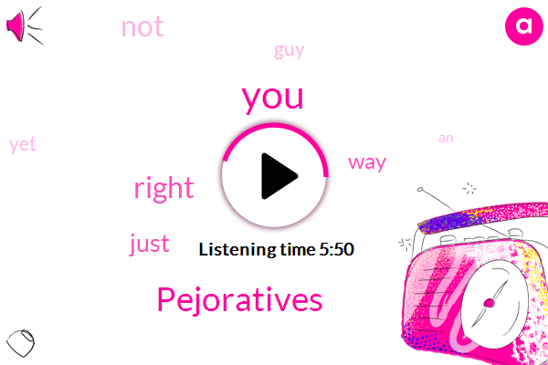 Pejoratives