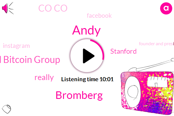 Andy,Bromberg,Stanford Bitcoin Group,Stanford,Co Co,Facebook,Instagram,Founder And President,JOE,Pr Agency,Co Founder,Twitter,Trey,Youtube,United States,Blockchain,Aucoin,Jake Cetera,Quinto