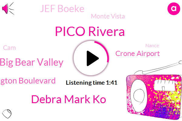Pico Rivera,Debra Mark Ko,Big Bear Valley,Washington Boulevard,Crone Airport,Jef Boeke,Monte Vista,CAM,Nance,Butterfield,Jeff Bob,Jennifer,Montclair,Attorney