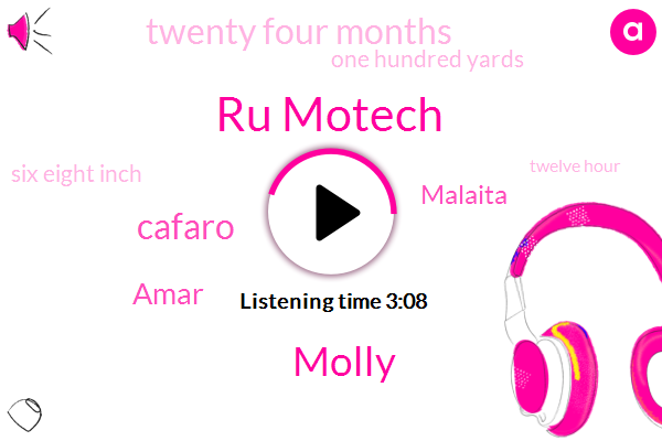 Ru Motech,Molly,Cafaro,Amar,Malaita,Twenty Four Months,One Hundred Yards,Six Eight Inch,Twelve Hour,One Inch