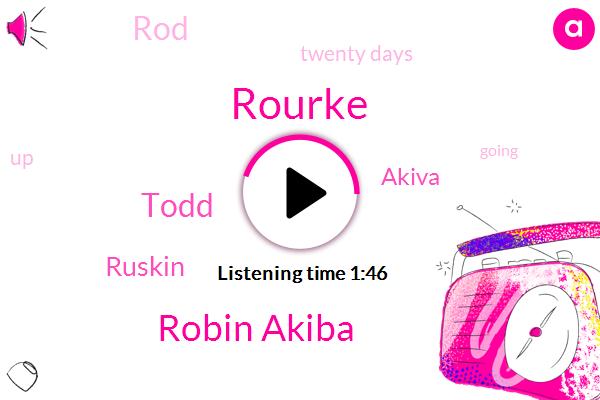 Rourke,Robin Akiba,Todd,Ruskin,Akiva,ROB,ROD,Twenty Days