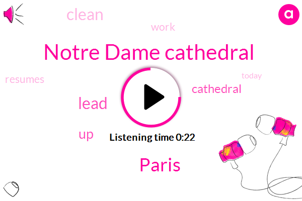 Listen: Cleanup work resuming at fire-damaged Notre Dame Cathedral
